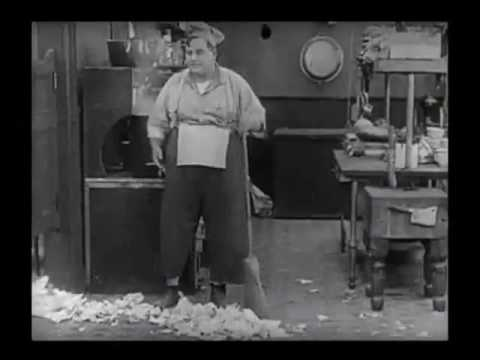 Fatty Arbuckle   Cleaning Restaurant    The Waiters' Ball 1916
