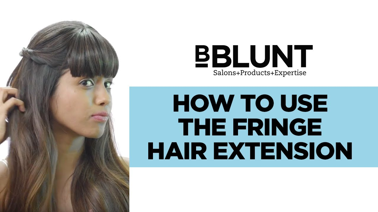 How To Use The Straight Fringe Clip In Hair Extension Youtube