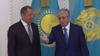 С.Лавров и К.-Ж.Токаев, Нур-Султан, 9 октября 2019 года
