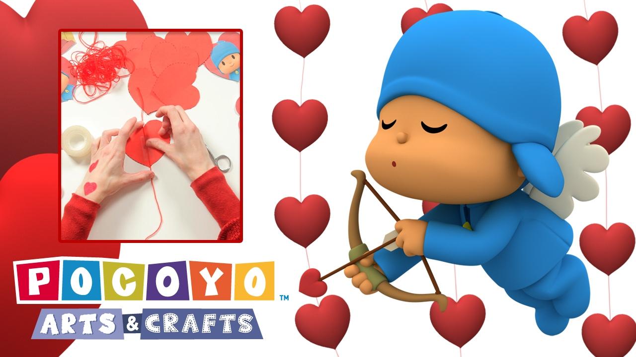 Pocoyo Arts Crafts Cortina De Corazones San Valentín