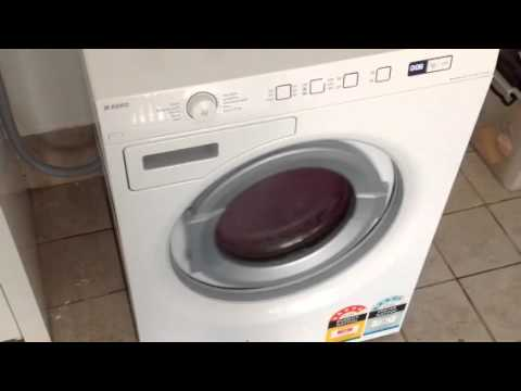 Asko washing machine make a big noise - YouTube