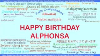 Alphonsa   Languages Idiomas - Happy Birthday