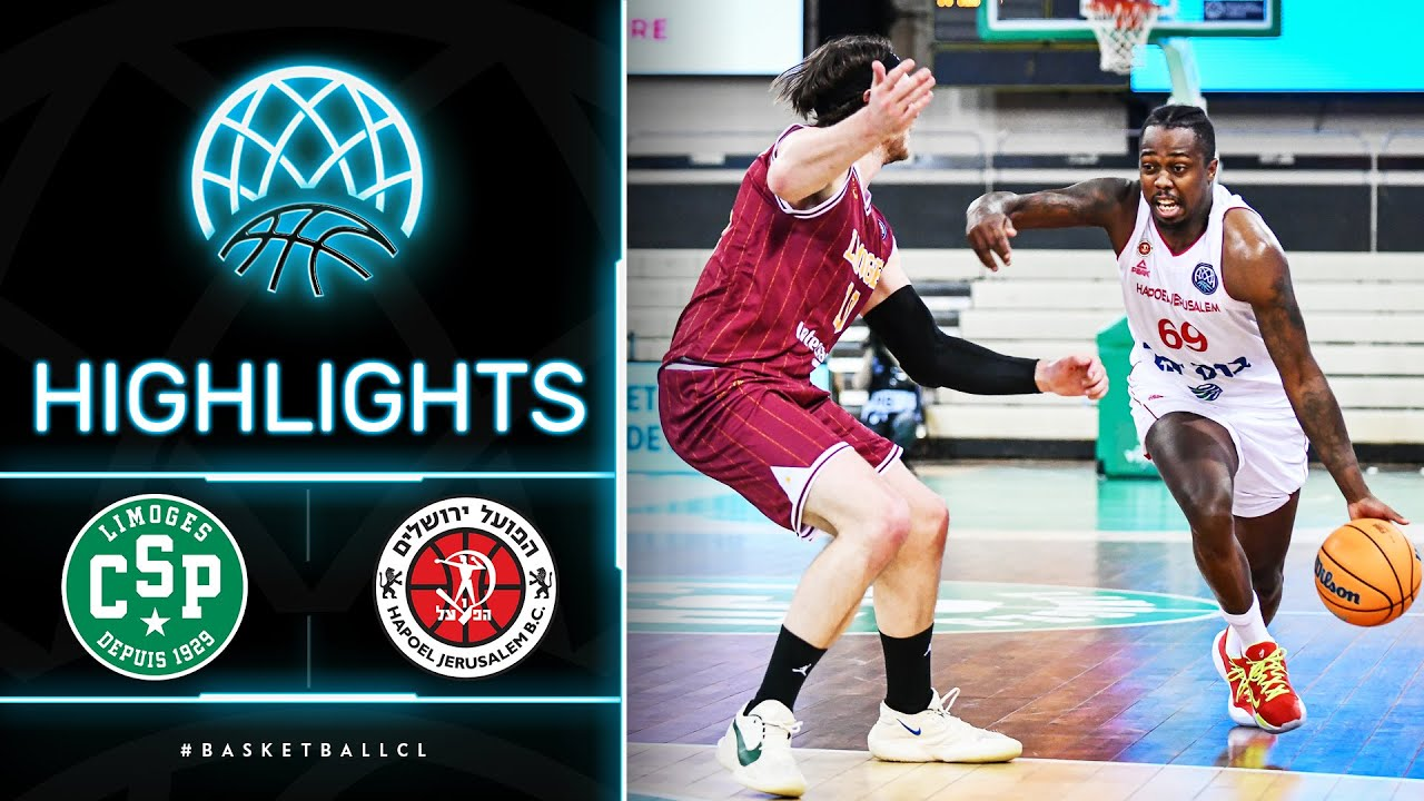Limoges CSP v Hapoel Jerusalem - Highlights