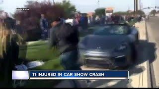 Video shows Porsche crashing into crowd at Boise car show