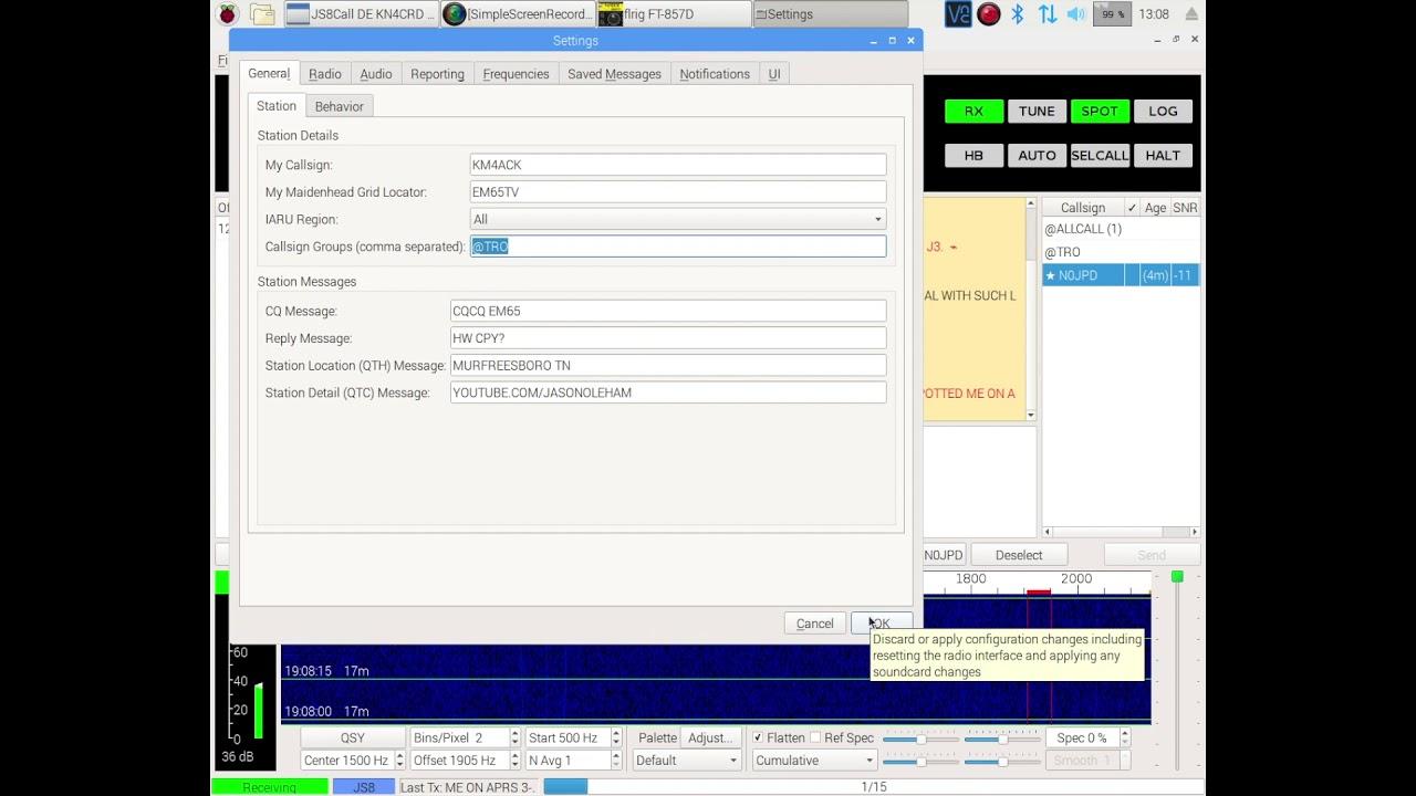 JS8Call - Using SELCALL & Group Callsigns