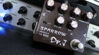 Dr.J Sparrow Bass Driver and DI - Pedal Demo
