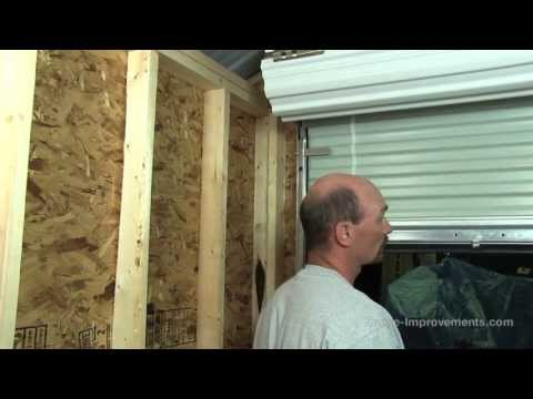 How To Build A Shed - Part 5 Installing A Metal Roll-Up Door