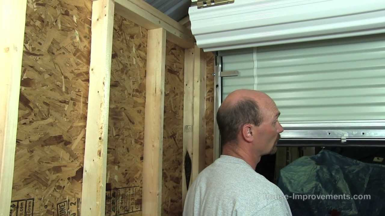 garage door for shedHow To Build A Shed  Part 5 Installing A Metal RollUp Door  YouTube
