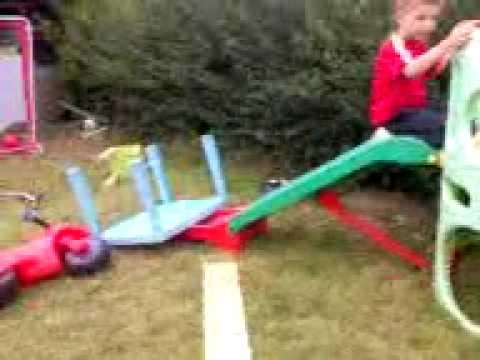 Slidy Fun:Backwards bum bash
