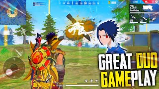 Great Duo Gameplay With 17 Kills Total In Free Fire Mp40 + AWM | Garena Free Fire | P.K. GAMERS