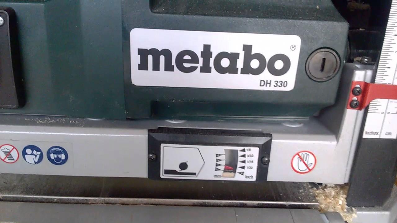 máy bào, may bao Metabo DH 330 - YouTube
