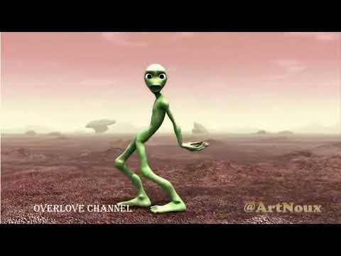 Alien vert qui dances (pub musicaly)