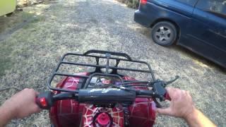 Coolster ATV-3125XR-8U 125cc ATV - start-up & ride