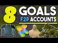 8 Goals for F2P Accounts Before Getting Membership ! Account Goals for Free to Play![OSRS]