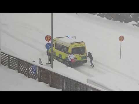 Ambulance Gets Stuck