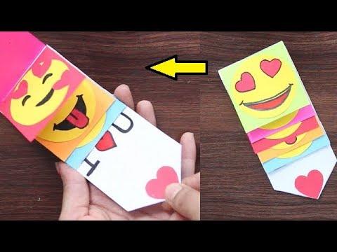 DIY - EMOJI Waterfall Card | Pull Me Waterfall card || Best Gift Card for friends
