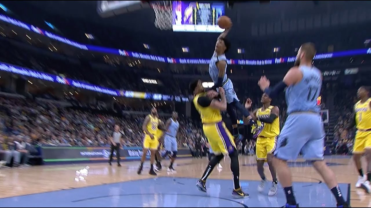 ja morant has the two most wild missed dunks of the year on anthony davis and kevin love