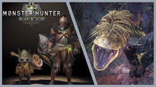 Monster Hunter World Gameplay | Great Jagras Gameplay [Hammer]
