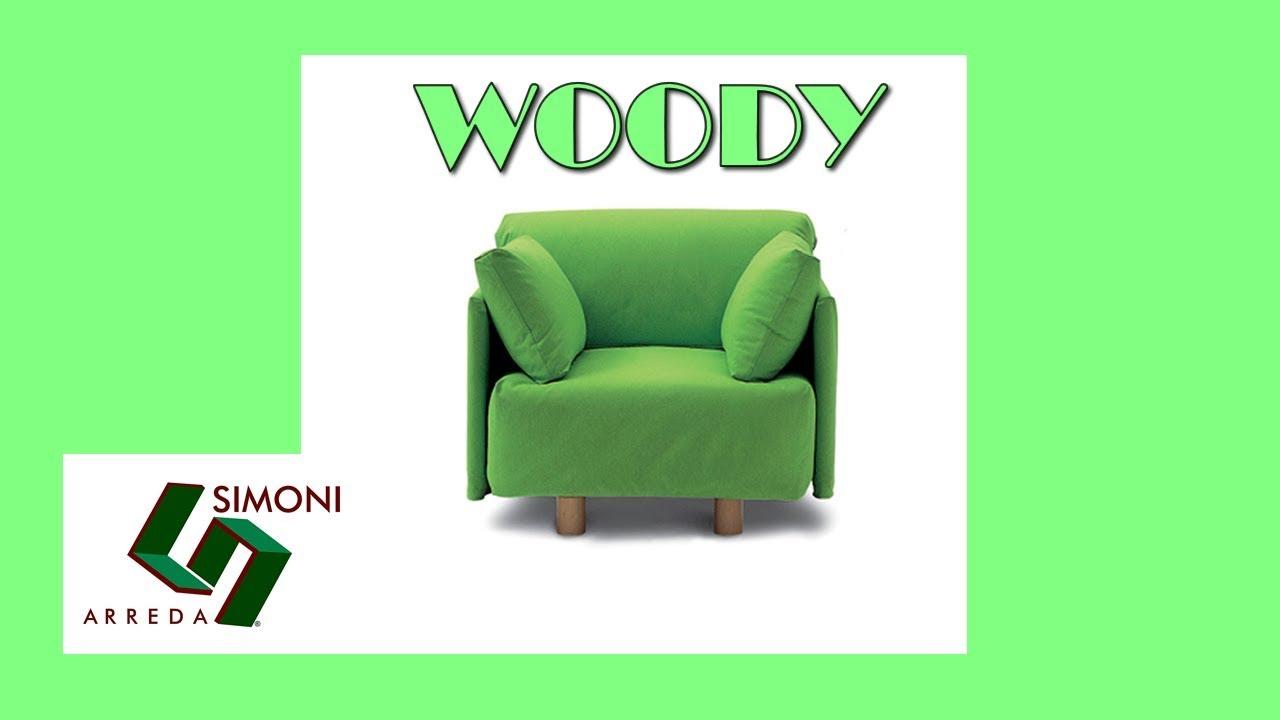 Poltrona letto singolo con rete a doghe woody youtube for Simoni arreda milano