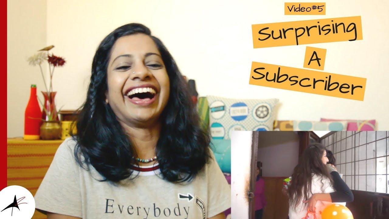 Sejal Kumar Surprising My Subscriber Reaction Video #5 | Arpitharai