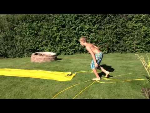 Mark Auf Selbsbau Wasserrutsche Youtube