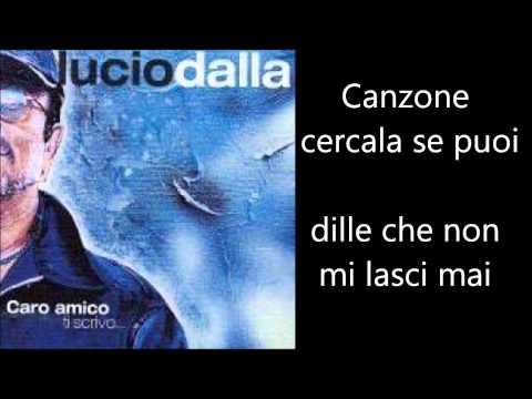 Lucio Dalla - Canzone Testo Lyrics