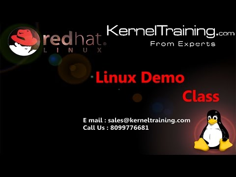 Linux Admin Training Video Tutorial For Beginners