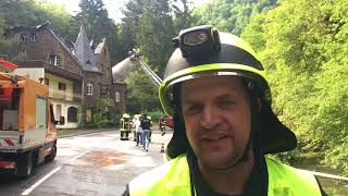 Hotelbrand in Burgen