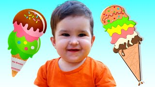 KIDS Pretend Play in Ice Cream shop with  Ice Cream Toys