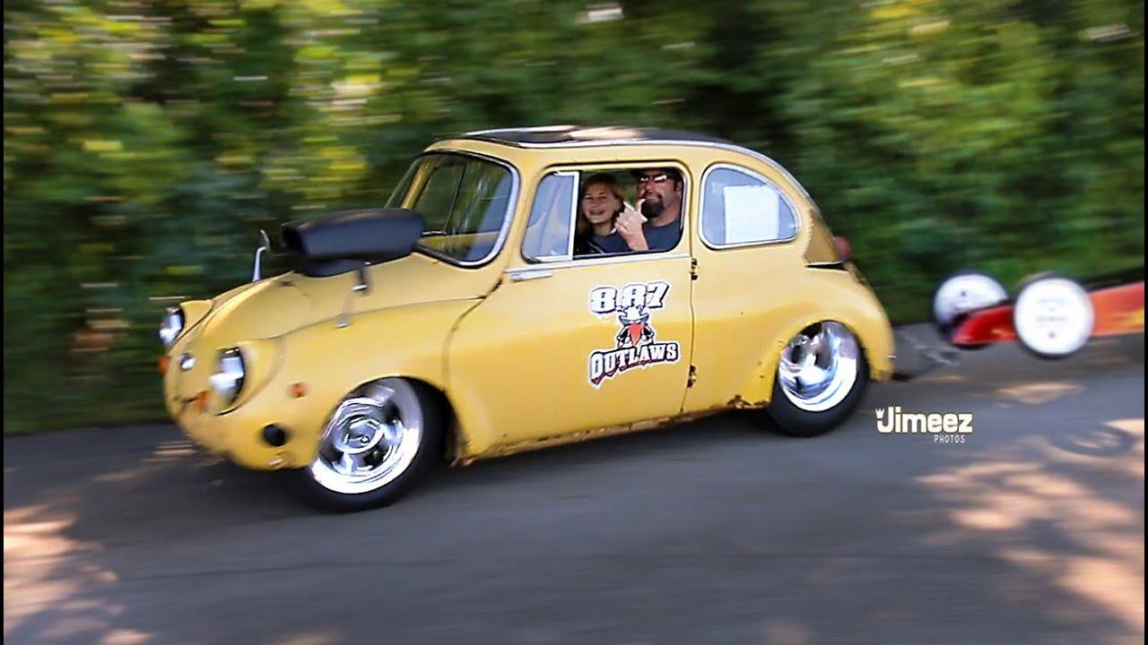 Crazy V8 Subie 69 360 World S Smallest V8 Powered Car