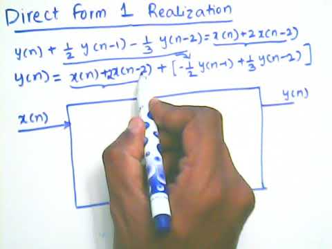 writing direct form 1 block diagram from difference equation
