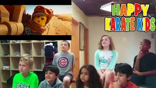 The Lego Movie 2 Trailer Reaction from Happy Karate Kids