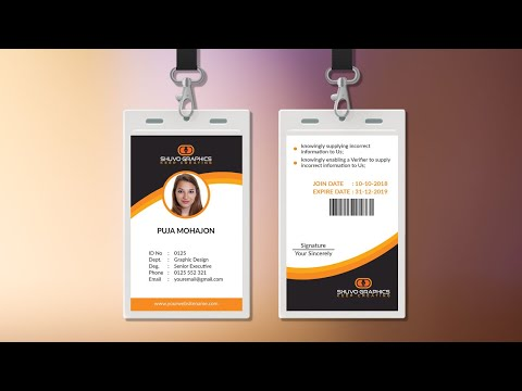 Eye Caching  Corporate ID Card Design in Photoshop    Photoshop Tutorial thumbnail