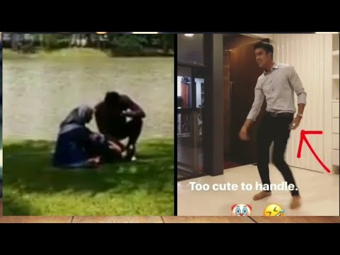 Sweet Alif Aziz Memegang Kaki Mira Filzah Yang Pura-Pura Sakit Dan Aliff Aziz Menari 'Raver'😂