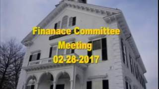 Finance Committee Meeting 2/28/17