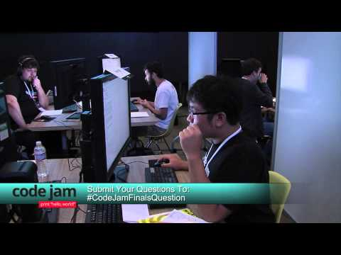 Code Jam 2014 World Finals Live Stream