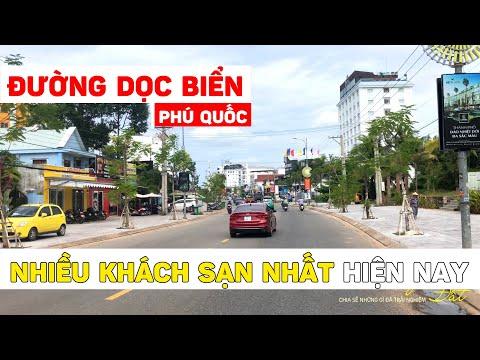 Đường Trần Hưng Đạo dọc biển, nhiều khách sạn nhất Phú Quốc | Du Lịch Phú Quốc 2021