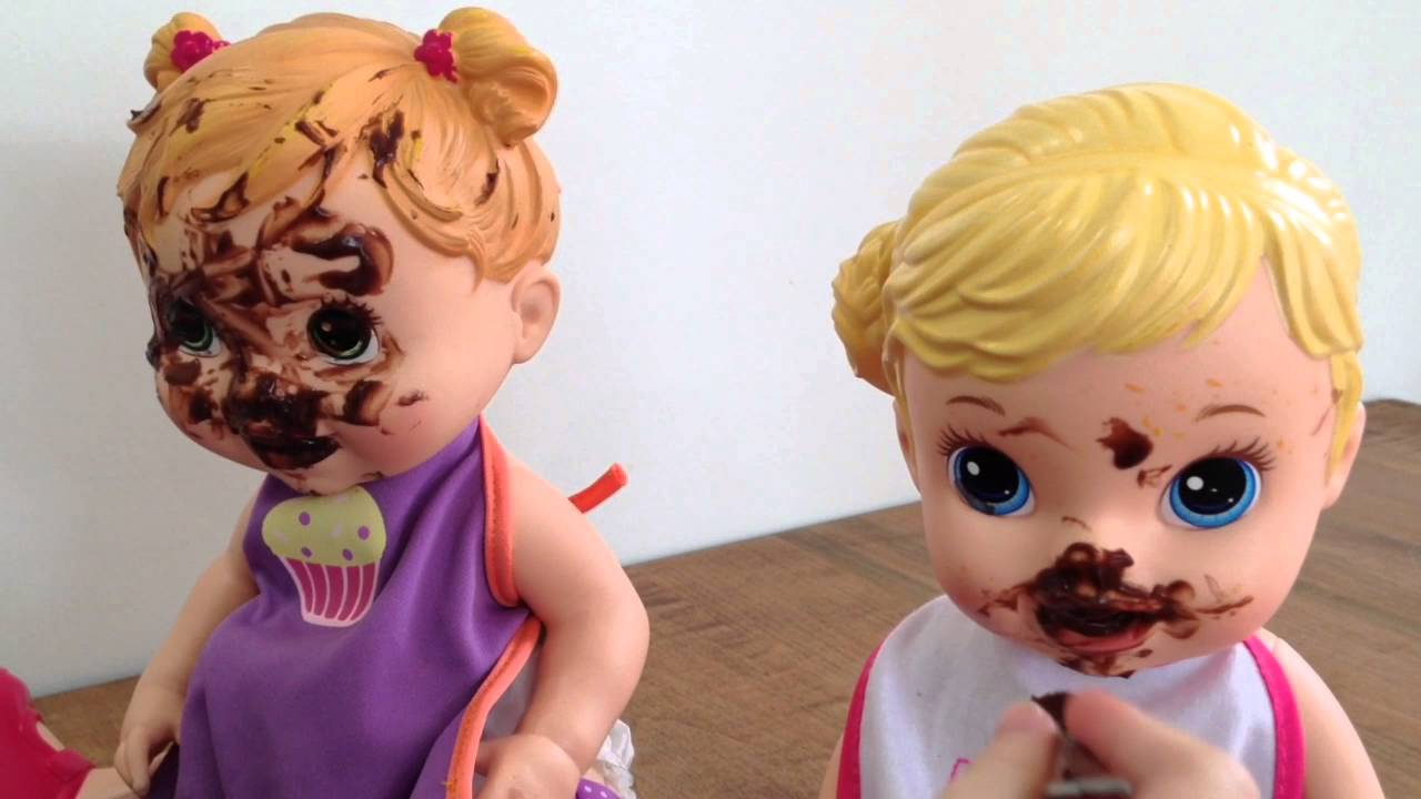 Baby Alive Doll Eats Chocolate Pudding Messy Poo