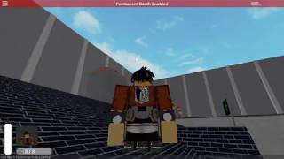 Roblox | Attack On Titan: Universe | Trost protest