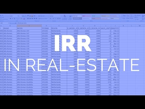 Real-Estate Investing Finance For Beginners: IRR (Internal Rate of Return)