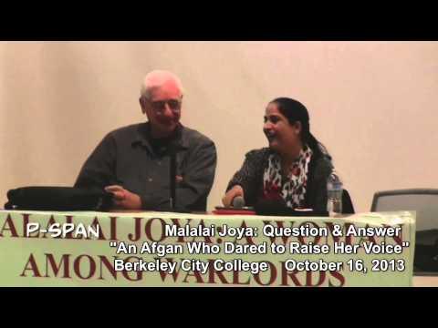 P-SPAN #334: Berkeley City College: Q & A with Malalai Joya