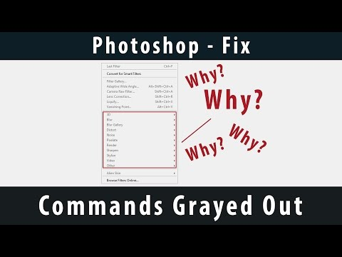 Photoshop] - Commands Grayed Out [Fix] - YouTube