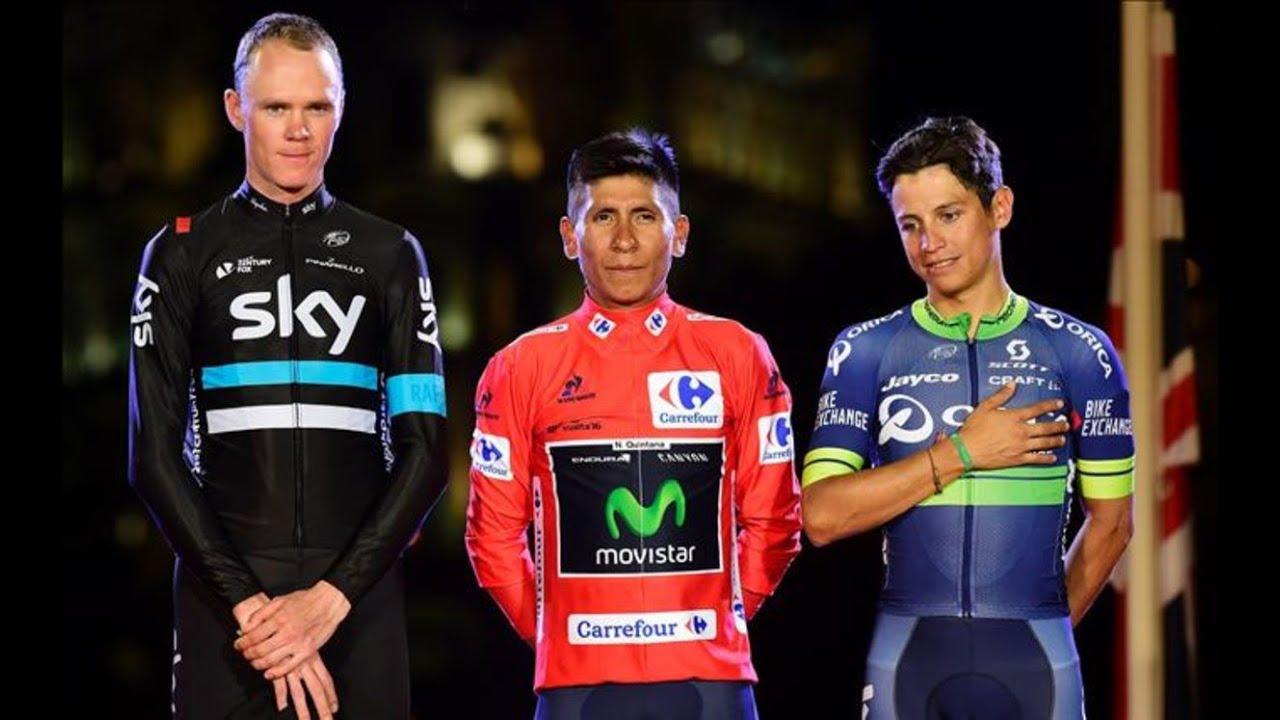 Nairo Quintana Campeon Vuelta España 2016 Premiacion UHD 4K - YouTube