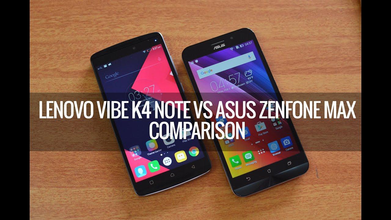 Lenovo Vibe K4 Note Vs ASUS Zenfone Max Comparison