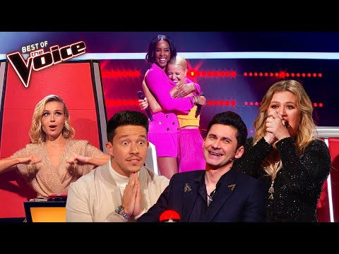 The best COACH SONG Blind Auditions on The Voice   Mega Compilation