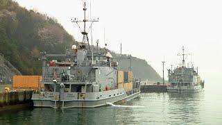 在日米軍・広弾薬庫(秋月弾薬廠) LCU-2000級揚陸艇の弾薬陸揚げ