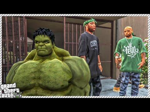 🔹INCREDIBLE HULK JOINS GROVE STREET FAMILIES!! (GTA 5 GANGSTER WAR GAMEPLAY MOD)