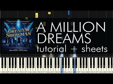 The Greatest Showman - A Million Dreams - Piano Tutorial + Sheets