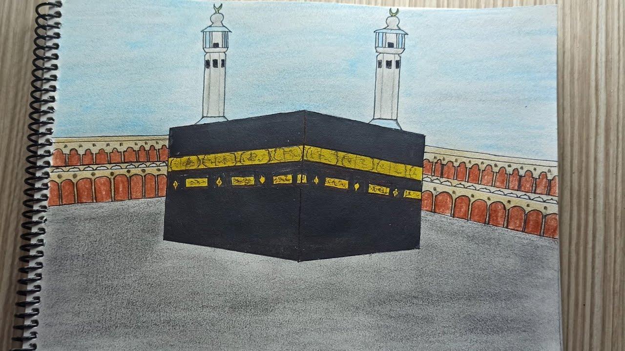 Cami Çizimi Ayasofya-i Kebir Cami - How to Draw a Hagia Sophia Mosque Easy Ramadan - مسجد رسم