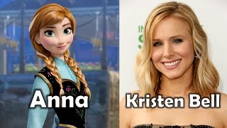 Repeat youtube video Characters and Voice Actors - Frozen